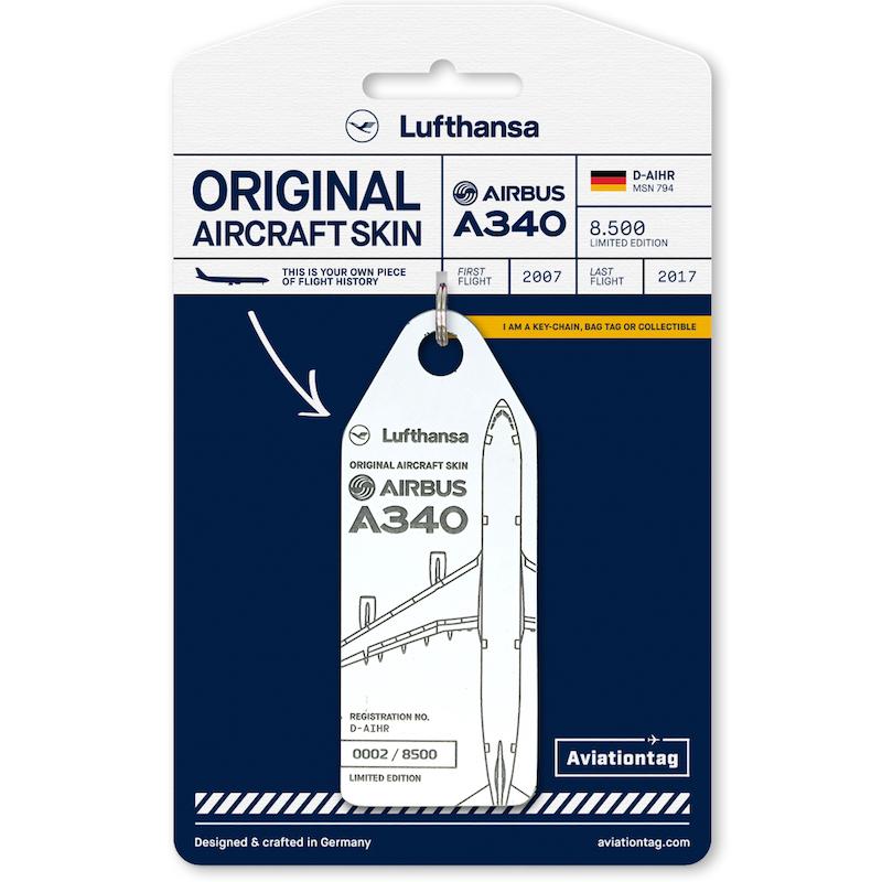 RIMOWA(リモワ)スーツケース Lufthansa Airbus A340 フライトタグ ホワイト 在庫商品画像