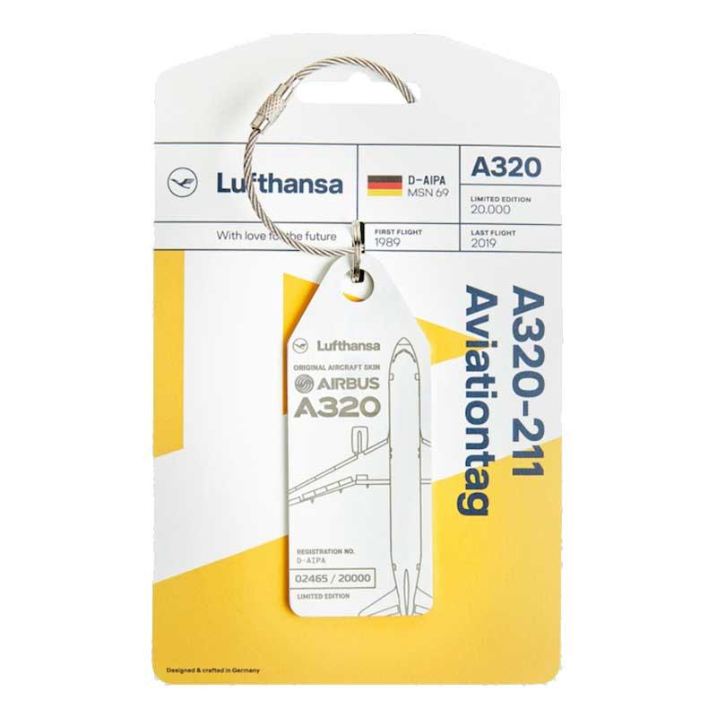 RIMOWA(リモワ)スーツケース Lufthansa Upcycling Collection A320-211 フライトタグ ホワイト 在庫商品画像
