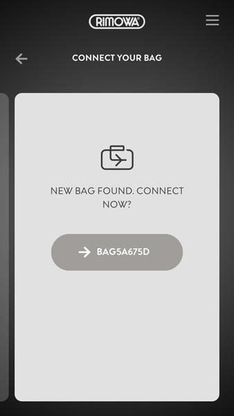 電子タグの使い方 - スマートフォンとスーツケースを接続